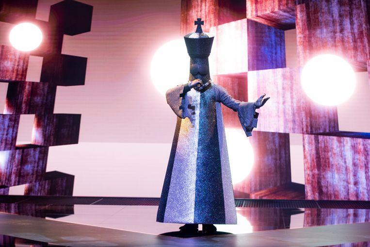 De koning in The Masked Singer Beeld RTL4