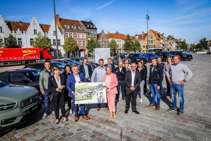 De initiatiefnemers van RijBatterij in Brugge.