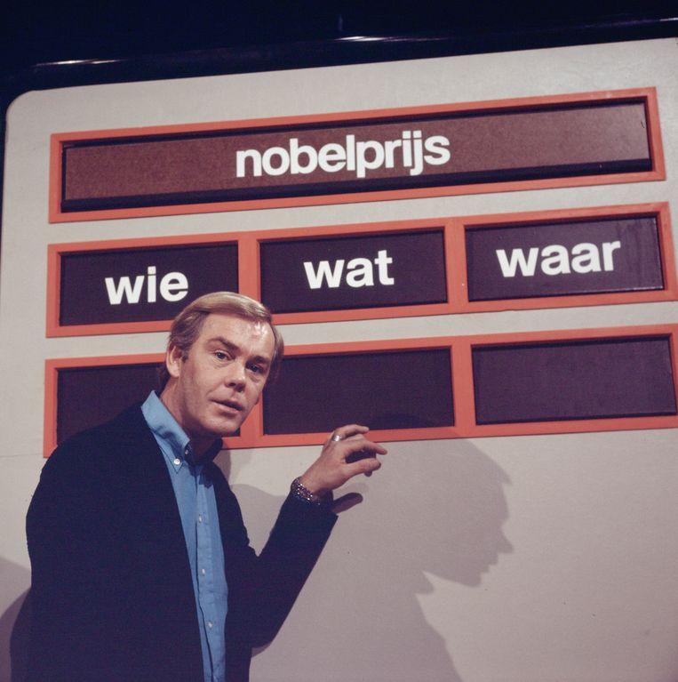 Herman Stok presenteert Wie wat waar. Beeld ANP