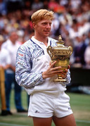 Boris Becker wint wederom op Wimbledon.