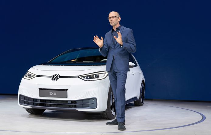 Klaus Bischoff bij de wereldwijde onthulling van de Volkswagen ID.3
