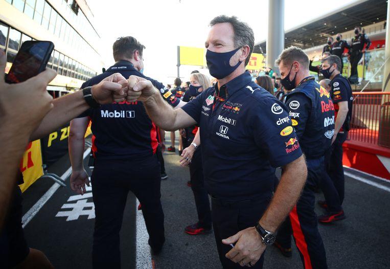 Red Bull-baas Christian Horner in betere tijden.  Beeld REUTERS