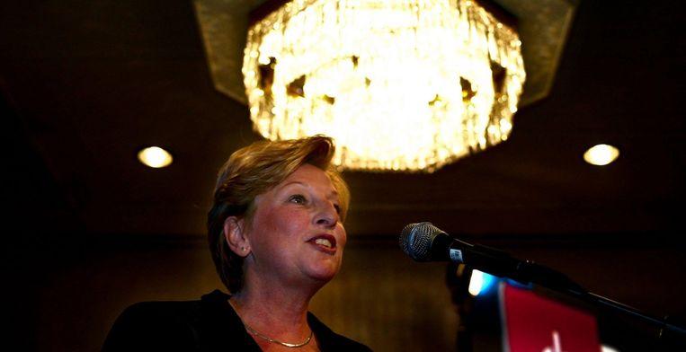 Cathy Spierenburg, projectleider crossmediale concepten en media-educatie bij de Nederlandse Publieke Omroep. Foto ANP/Olaf Kraak Beeld