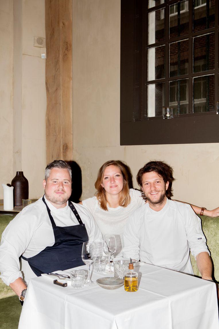 Guillaume de Beer, Johanneke Iwaarden en Freek van Noortwijk. Beeld Marie Wanders