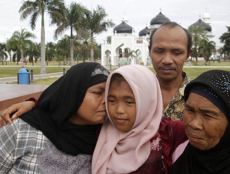 Raudhatul werd vorige maand herkend door een familielid en begin augustus herenigd met haar familie. Beeld REUTERS