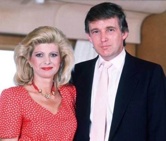 Donald et sa femme Ivanna dans les années 80.