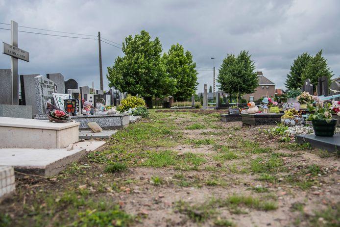 """Wie in Buggenhout het graf van zijn overleden kindje wil bezoeken, krijgt er een onverzorgde aanblik bij. """"We moeten daardoor onze moed bij elkaar rapen om te komen"""", getuigt een mama."""