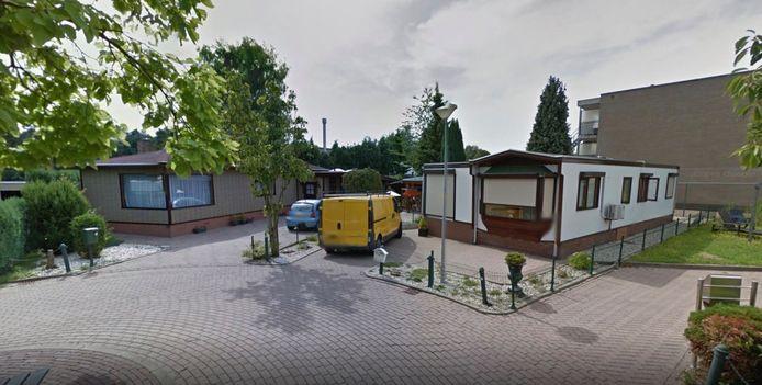 Woonwagens op een standplaats in Winterswijk.