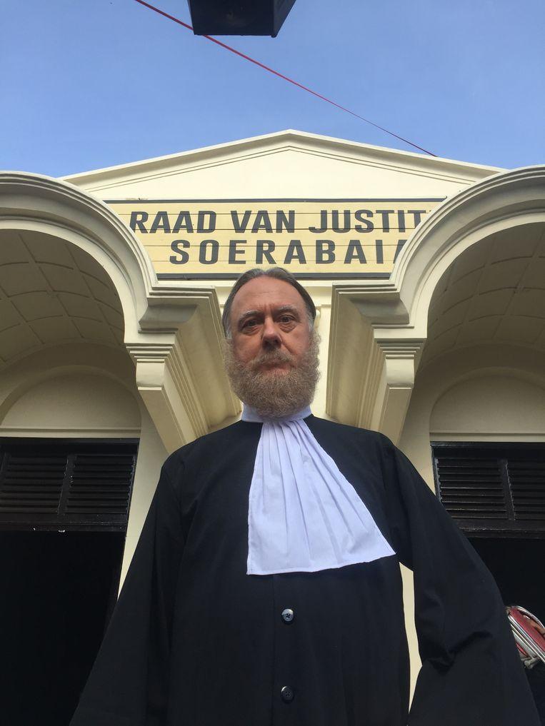 Michel Maas als de Europese Rechter.  Beeld