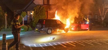 Auto gaat in vlammen op in Alblasserdam