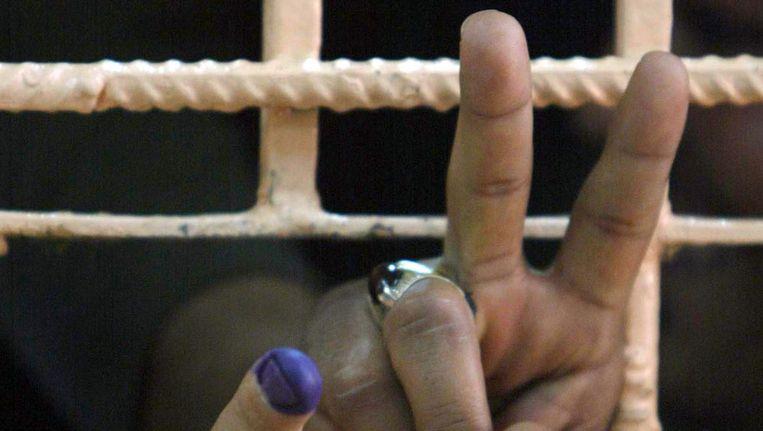 Een Iraakse gevangene. © ANP Beeld