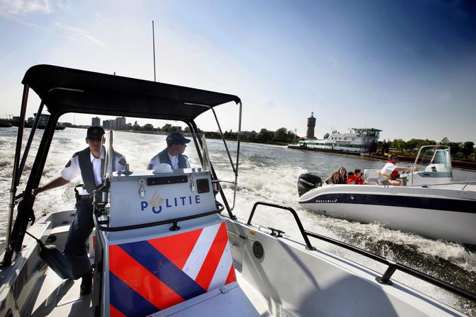 Archieffoto: waterpolitie in actie.