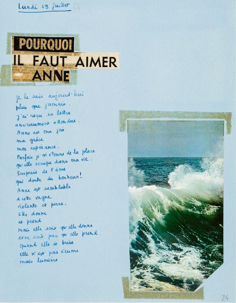 ► Een van de in totaal 1.218 brieven die Mitterrand aan zijn geheime minnares Anne Pingeot schreef. Beeld rv