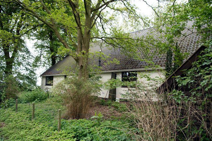 De afgelegen woning van Beppie de Graaf, die zelf niet op de foto wilde