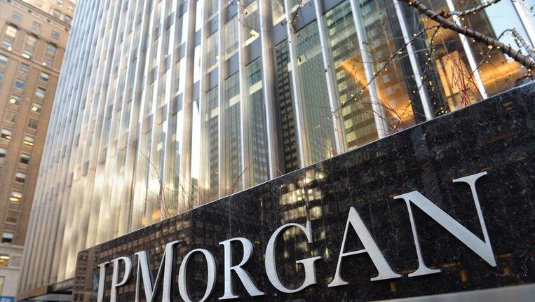 Het hoofdkantoor van JP Morgan in New York. Beeld afp