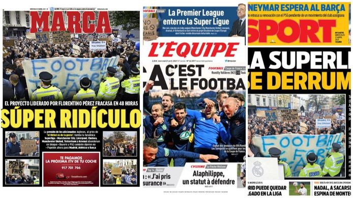 Ook in de internationale pers wordt het falen van de Super League breed uitgesmeerd.
