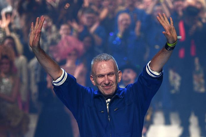 Jean-Paul Gaultier lors de son ultime défilé le 22 janvier dernier.