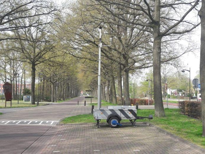 Bij de Olympiaweg in Waalwijk is een geluidsmeter geplaatst naar aanleiding van klachten over een irritante toon.