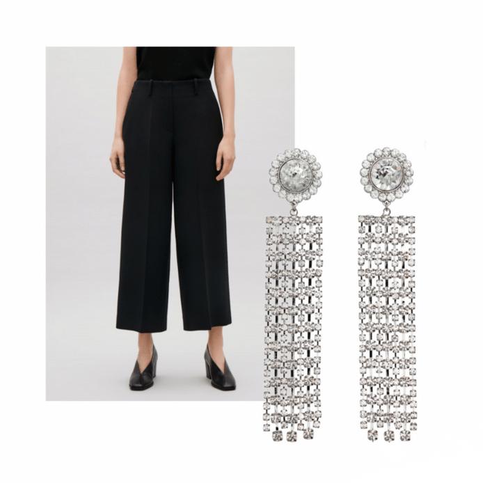 Michelle's outfit: een broek van COS en opvallende oorbellen van H&M