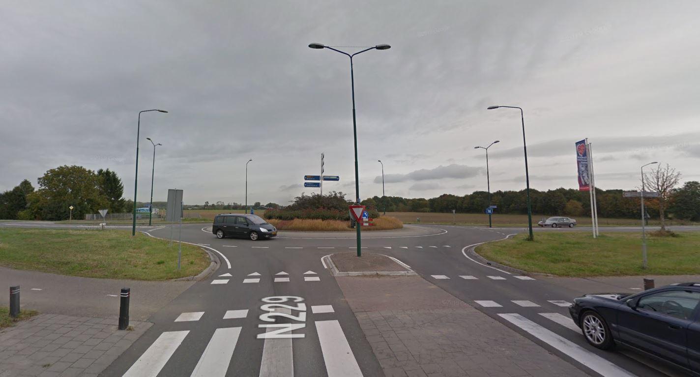 Rotonde De Geer bij Wijk bij Duurstede.