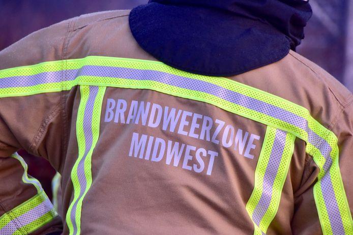 De brandweer van de zone Midwest snelde ter plaatse maar hoefde uiteindelijk niet veel te doen.