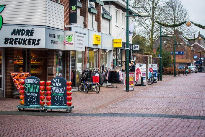 Winkelstraat in hartje Haaksbergen.