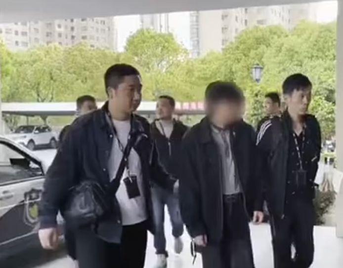 De Chinese man is gearresteerd in de provincie Zhejiang.