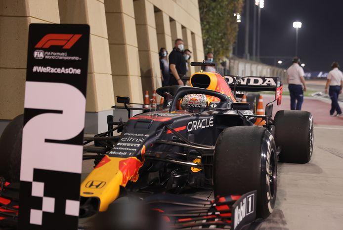 Max Verstappen eindigde als tweede in Bahrein.