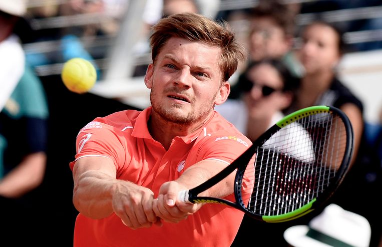Belgium's David Goffin returns the ball to Argentina's Juan Martin, at the Italian Open tennis tournament in Rome. Beeld AP