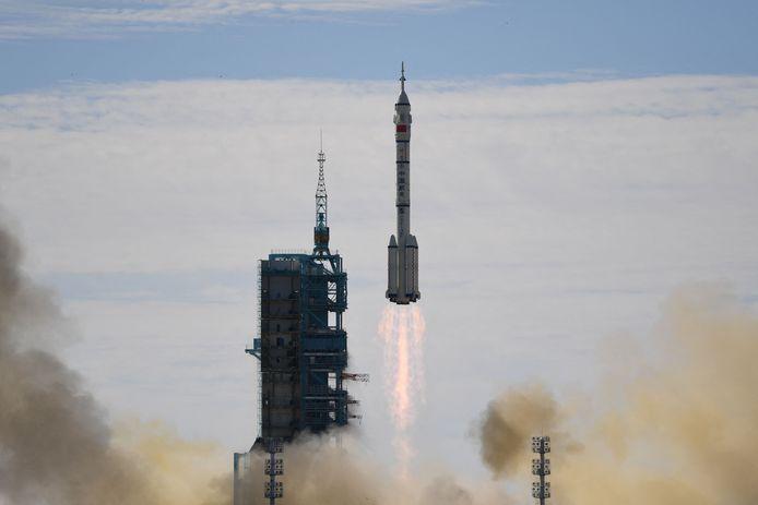 Een Chinese Lange Mars die gelanceerd werd op 17 juni 2021.