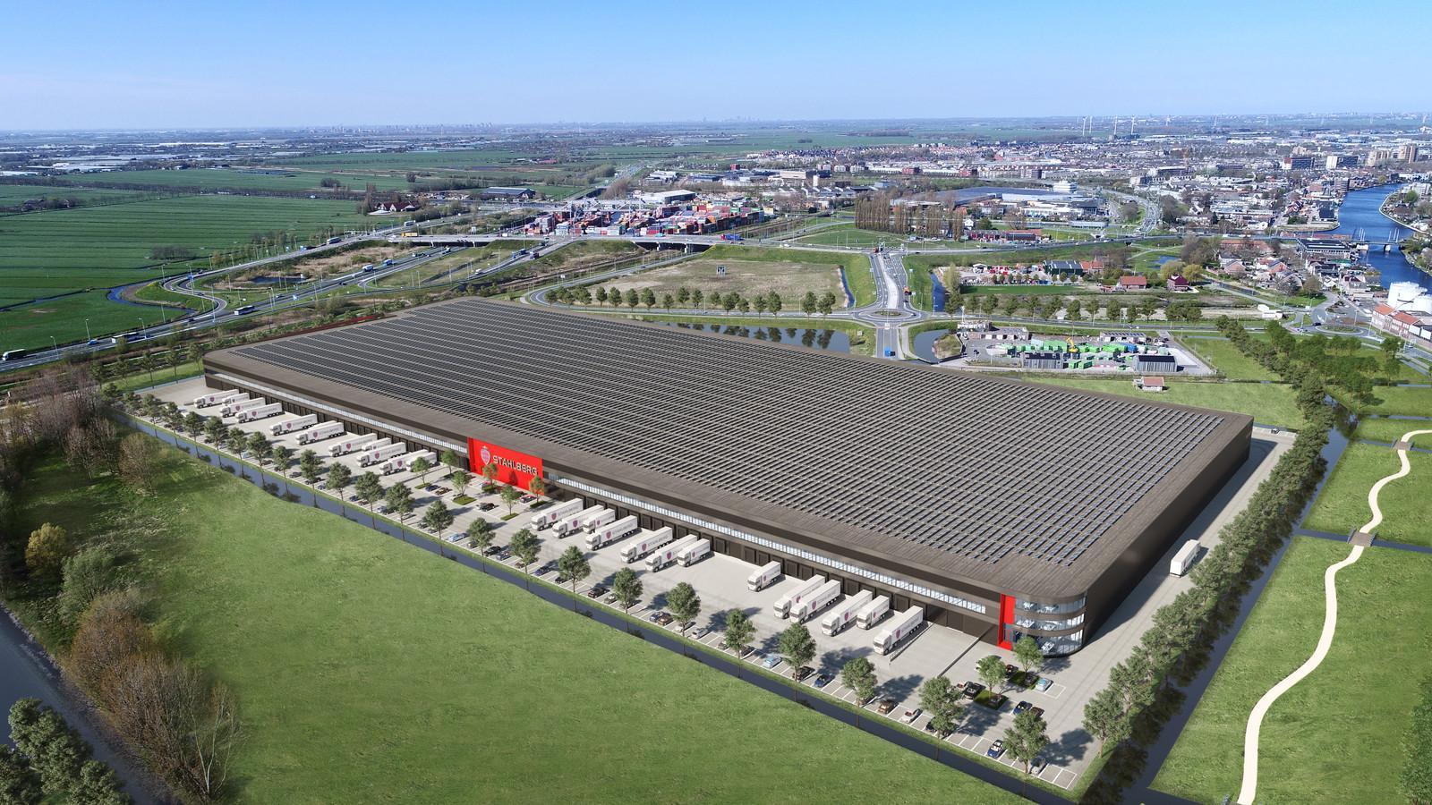 Zo'n dertien voetbalvelden groot wordt het distributiecentrum.