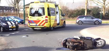 Scooterrijdster gewond bij ongeval in Bunschoten