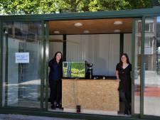 Koffiebar in zeecontainer wordt ontmoetingspunt Stadspolders