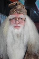 Ton Kroeze als Albus Dumbledore uit de beroemde films rond Harry Potter.
