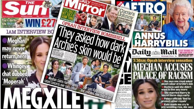 """Verwoestend voor koninklijk paleis"": Britse media over explosief interview met prins Harry en Meghan Markle"