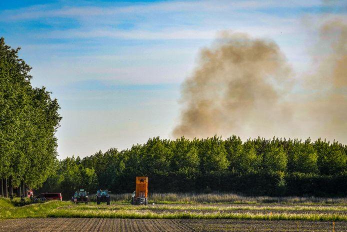 De brand in Weteringbrug zorgde voor veel rook.