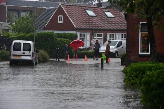 Wateroverlast in Meliskerke.