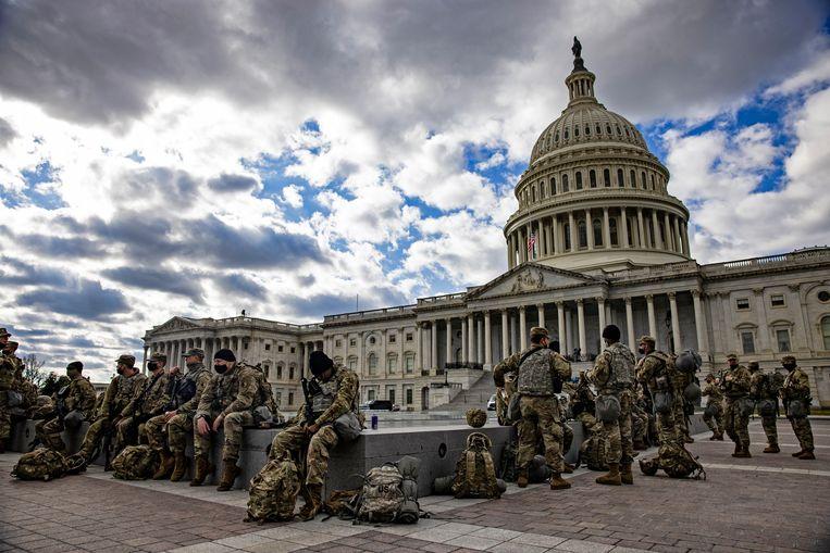 In Washington lopen momenteel meer Amerikaanse soldaten rond dan in Irak en Afghanistan bij elkaar. Beeld Getty Images