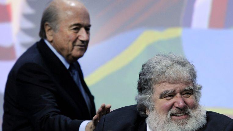 Blazer met FIFA-baas Blatter. Beeld afp