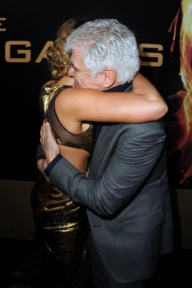 Jennifer Lawrence en regisseur Gary Ross. Beeld UNKNOWN