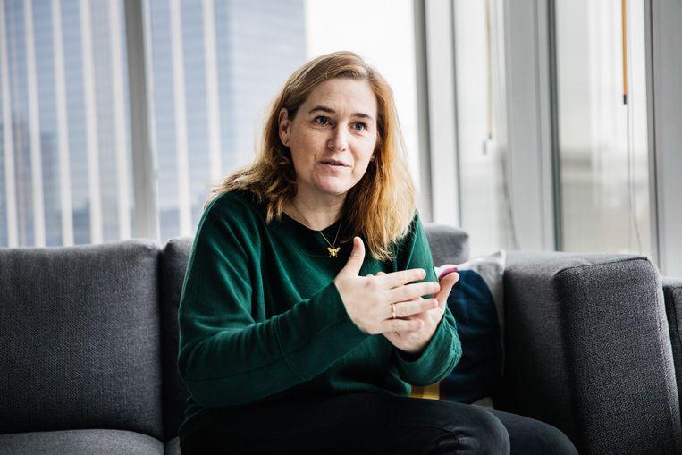 Elke Van den Brandt, Brussels minister van Mobiliteit, Openbare Werken en Verkeersveiligheid voor Groen. Beeld Aurélie Geurts