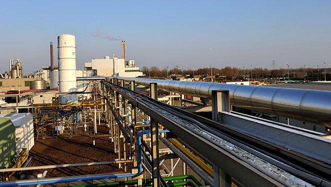De vestiging van DuPont in Dordrecht.