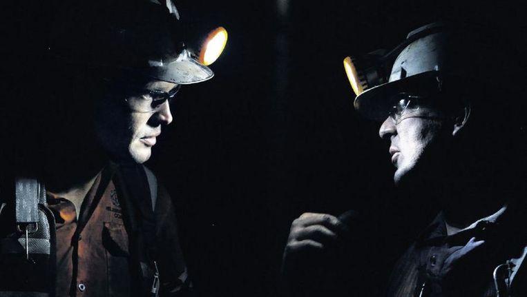 Twee kompels in een kolenmijn in Helensburgh, nabij Sydney. Beeld Reuters