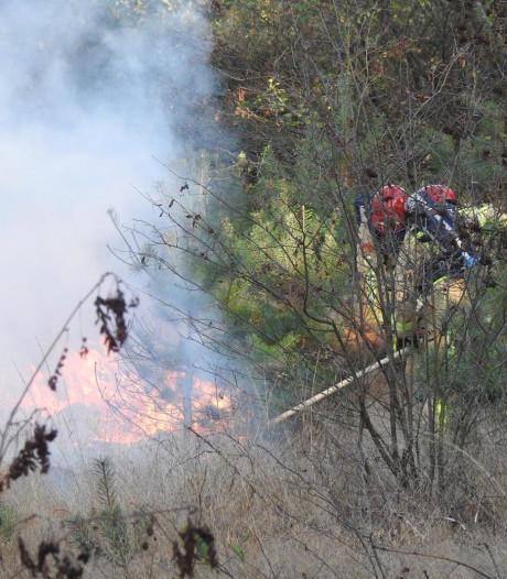 Brandweer blust nog na in Maarheeze, villa's ontruimd maar bleven gespaard