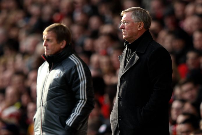 Alex Ferguson (r) en Kenny Dalglish