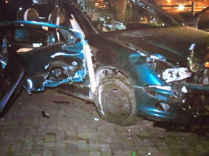 Ongeluk op de Peelweg in Zeeland.