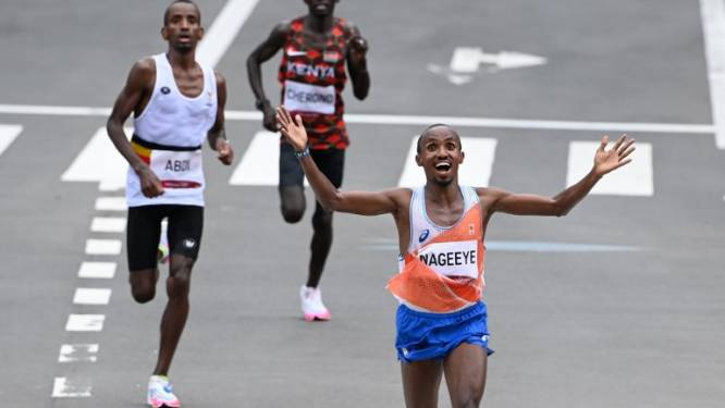 Abdi Nageeye loopt marathon van New York