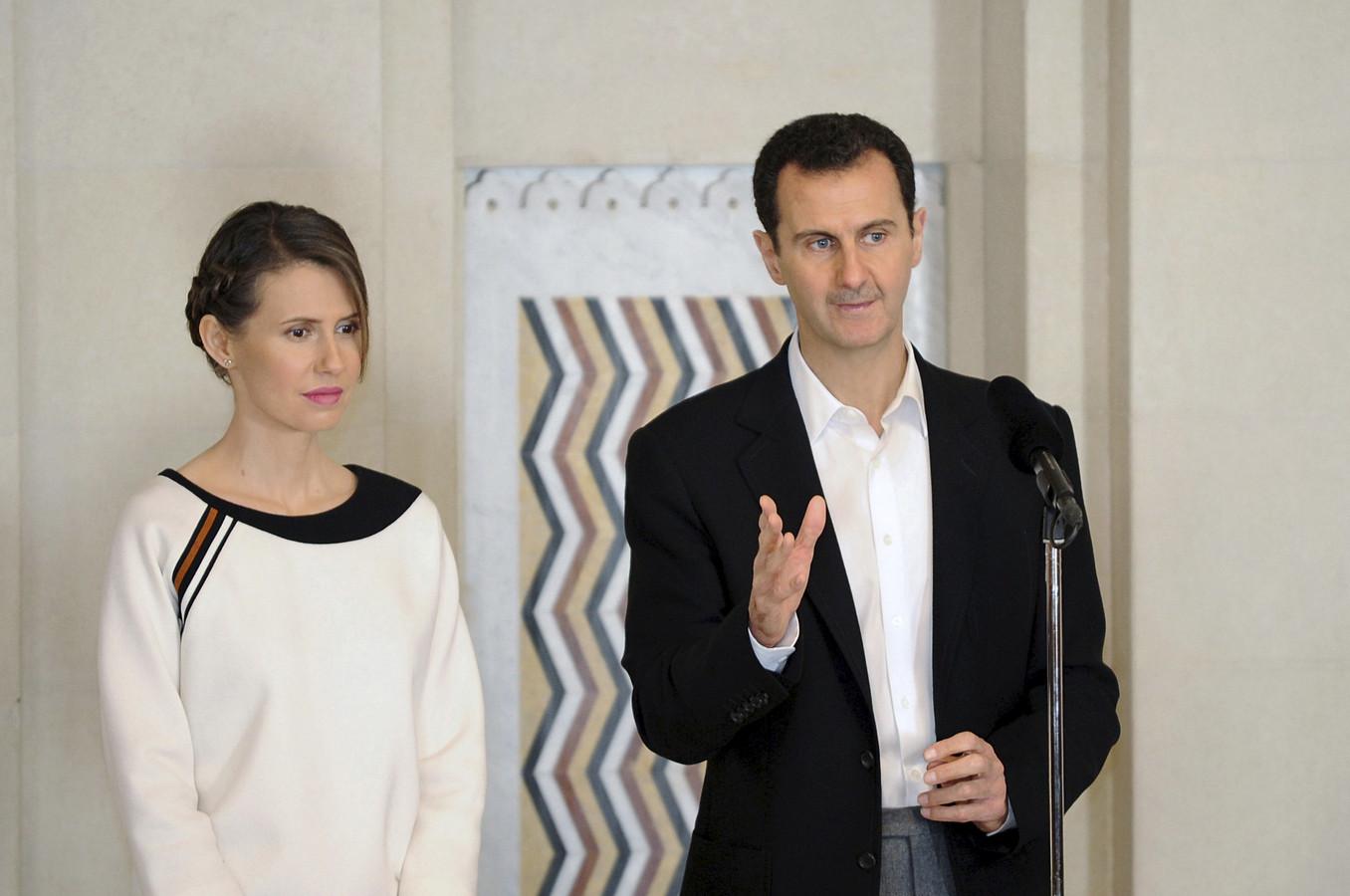 Bachar el-Assad et son épouse, Asma