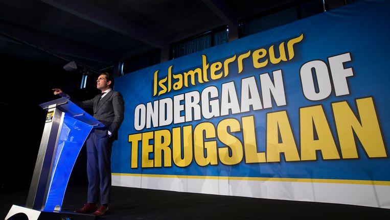Tom Van Grieken, voorzitter van het Vlaams Belang. Beeld BELGA