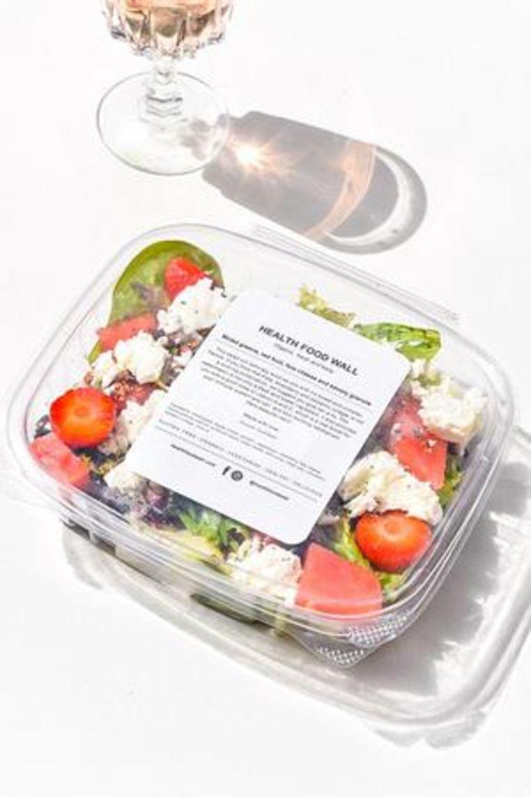 Snelders eigen favoriet: een salade met watermeloen, aardbei, feta en een vinaigrette.